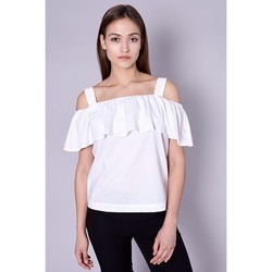 Vêtements Femme Tops / Blouses Click Fashion Chemisier model 90687 blanc
