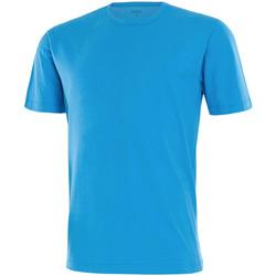 Vêtements Homme T-shirts manches courtes Impetus Tee shirt homme col rond bleu Bleu