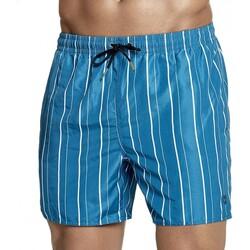 Vêtements Homme Shorts / Bermudas Impetus Beachwear Maillot de bain rayé homme Egée bleu vert Bleu
