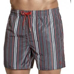 Vêtements Homme Shorts / Bermudas Impetus Beachwear Maillot de bain rayé homme Mombasa gris anthracite Gris