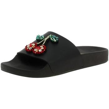 Chaussures Femme Claquettes Thewhitebrand l-0138 noir