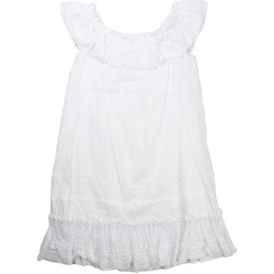 Vêtements Fille Robes courtes Monnalisa - Robe en dentelles fille - Blanc Blanc