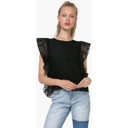 Vêtements Femme Tops / Blouses Desigual Top Mireia Noir 72T2GF4 (sp) 38