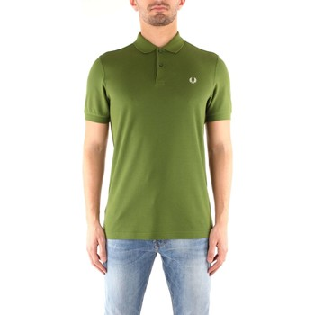 Vêtements Homme Polos manches courtes Fred Perry M6000 T-shirt Homme green / Snow White green / Snow White