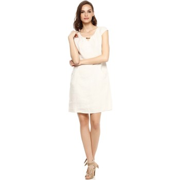 Vêtements Femme Robes Doucel Robe en lin ROMANTIK AREVA beige