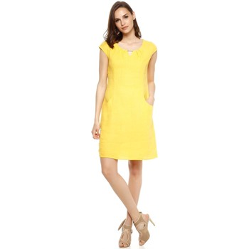 Vêtements Femme Robes Doucel Robe en lin ROMANTIK AREVA jaune