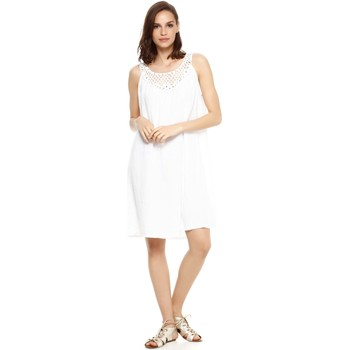 Vêtements Femme Robes Doucel robe ample en lin ROMANTIK CONNIE blanc