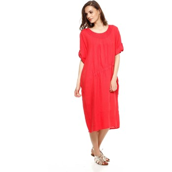 Vêtements Femme Robes Doucel robe en lin ample ROMANTIK DANAE rouge