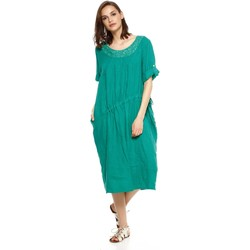 Vêtements Femme Robes Doucel robe en lin ample ROMANTIK DANAE vert