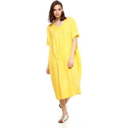 Vêtements Femme Robes Doucel robe en lin ample ROMANTIK DANAE jaune