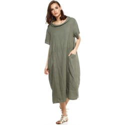 Vêtements Femme Robes Doucel robe ample en lin ROMANTIK ELIANE kaki