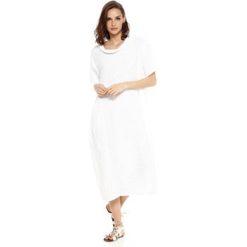 Vêtements Femme Robes Doucel robe ample en lin ROMANTIK ELIANE blanc