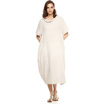Vêtements Femme Robes Doucel robe ample en lin ROMANTIK ELIANE gris