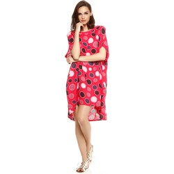Vêtements Femme Robes Doucel robe tunique ample imprimée en lin ROMANTIK EVITA rose