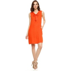 Vêtements Femme Robes Doucel robe tunique en lin FABI orange