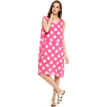 Vêtements Femme Robes Doucel robe à pois en lin ROMANTIK GOVA rose