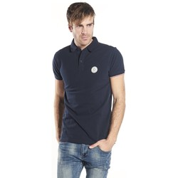 Vêtements Homme Polos manches courtes Deeluxe Polo Frankie bleumarine