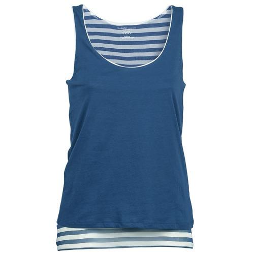 T-shirts & Polos Majestic BLANDINE Marine / Blanc 350x350