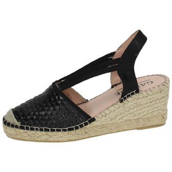 Chaussures Femme Espadrilles Garque  Noir