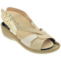 Chaussures Femme Sandales et Nu-pieds Riposella 6435 BEIGE Sandales