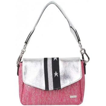Sacs Femme Sacs Bandoulière Patrick Blanc Petit sac épaule + bandoulière  toile rose et argent Platine