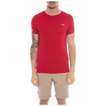 Vêtements Homme T-shirts manches courtes Ritchie T-shirt col rond en coton NAMASKA Rouge