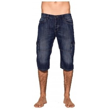 Vêtements Homme Pantacourts Ritchie Pantacourt battle en jean BONACRI DK BLUE Bleu marine