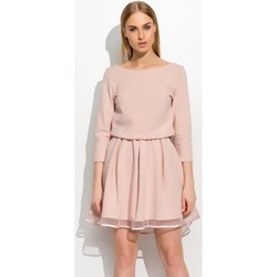Vêtements Femme Robes longues Makadamia Robe de cocktail model 60903 rosé