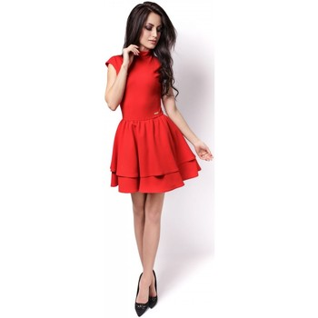 Vêtements Femme Robes courtes Ivon Robe de cocktail model 86955 rouge