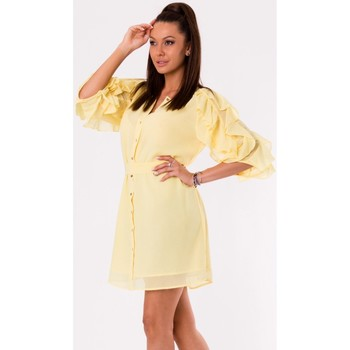 Vêtements Femme Robes courtes Yournewstyle Robe de cocktail model 115822 jaune