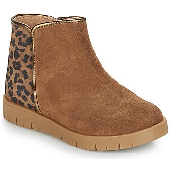 Chaussures Fille Boots André SAVANNAH Camel