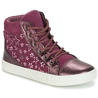 Chaussures Fille Baskets montantes André EMILIE Violet