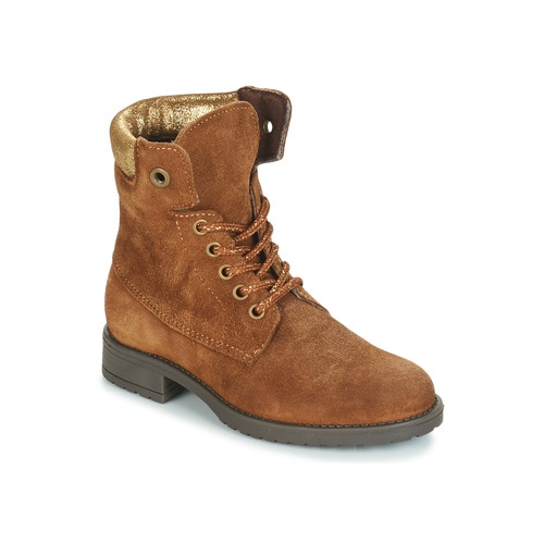 Chaussures Fille Boots André KATE Camel