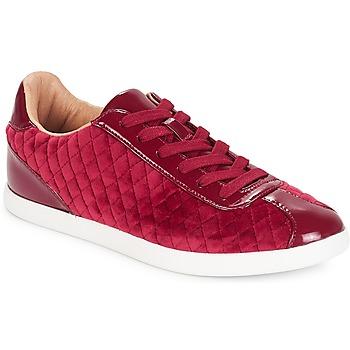 Chaussures Femme Baskets basses André VELVET Rouge