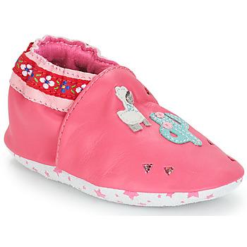 Chaussures Fille Chaussons bébés André PERUVIENNE Rose
