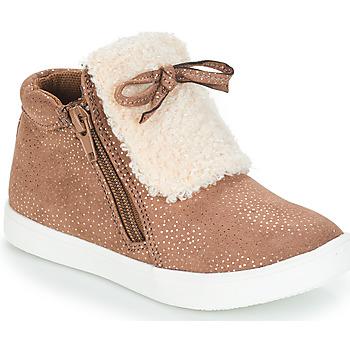 Chaussures Fille Boots André MOUFLON Beige