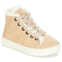 Chaussures Fille Baskets montantes André TRICOT Beige