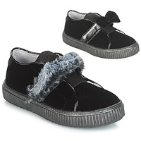 Chaussures Fille Slip ons André MAMMOUTH Noir