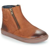 Chaussures Garçon Boots André CUMIN Marron