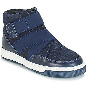 Chaussures Garçon Boots André CUBE Marine