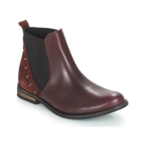 Chaussures Fille Boots André MUSCADE Bordeaux