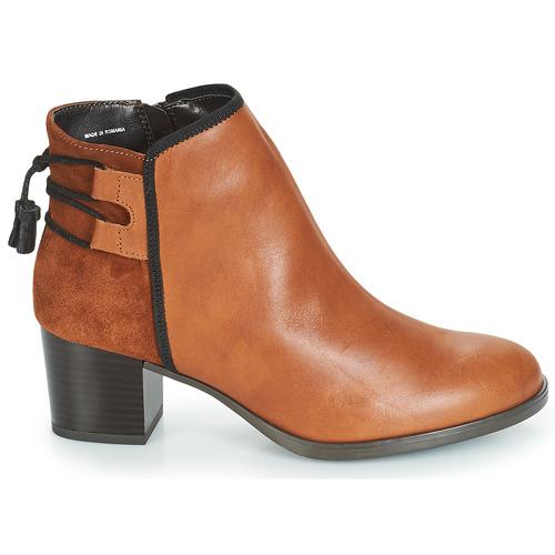 Marron Boots Tiron André Chaussures Femme sQrohdBCxt