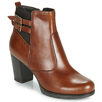 Chaussures Femme Bottines André CARACAL Marron