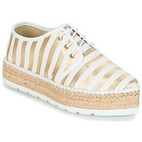 Chaussures Femme Espadrilles André ZEBRE Blanc
