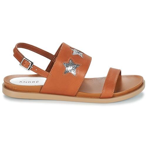 André Taiga Camel - Livraison Gratuite- Chaussures Sandale Femme 4719