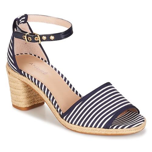 Chaussures Femme Sandales et Nu-pieds André JAKARTA Raye bleu
