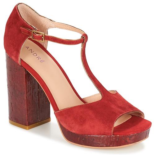 André Chaussures Nu pieds Sandales Torride Rouge Femme Et wmNn08