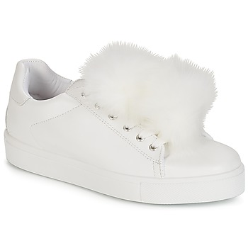 dad14f4e6872b5 Chaussures Femme Baskets basses André POMPON Blanc