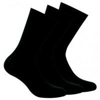Accessoires Femme Chaussettes Kindy Lot de 3 paires chaussettes unies Noir