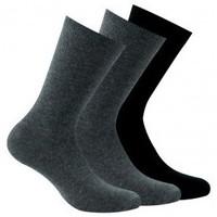 Accessoires Femme Chaussettes Kindy Lot de 3 paires chaussettes unies Gris noir